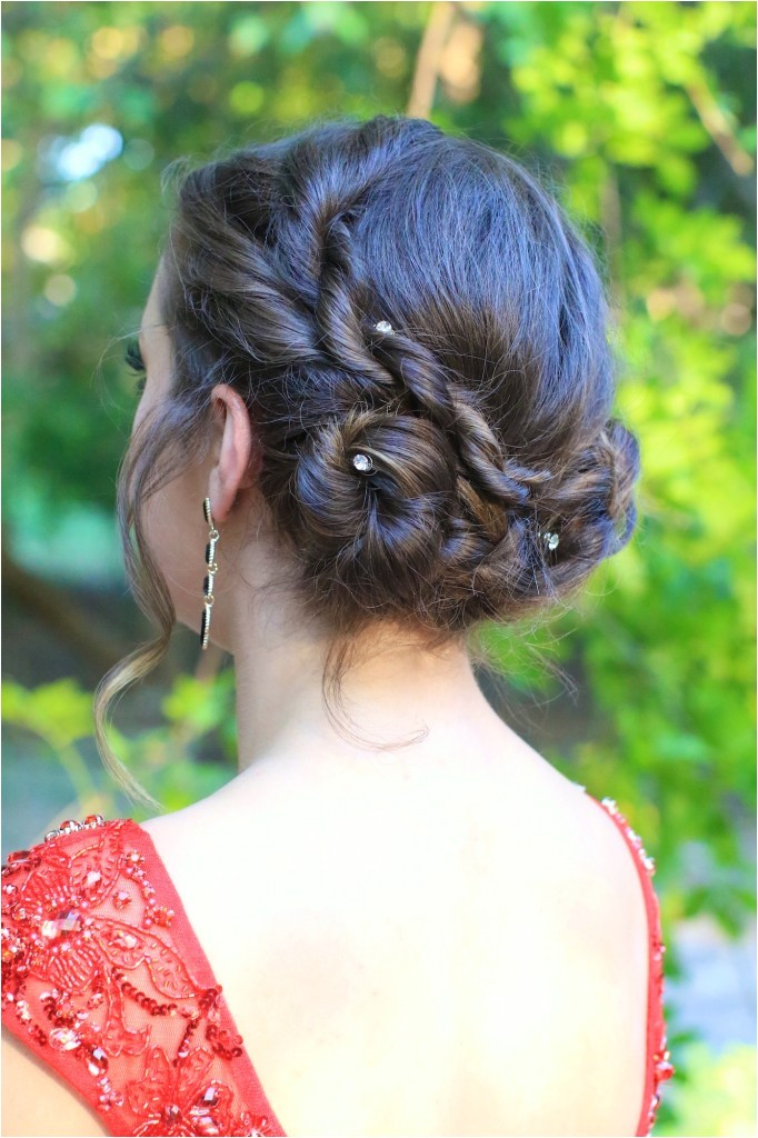 rope twist updo home ing hairstyles