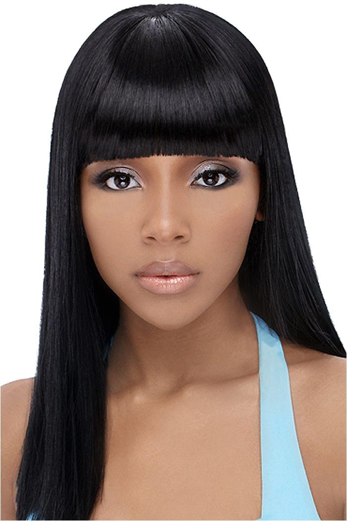 cute hairstyles for black women long hair bangs