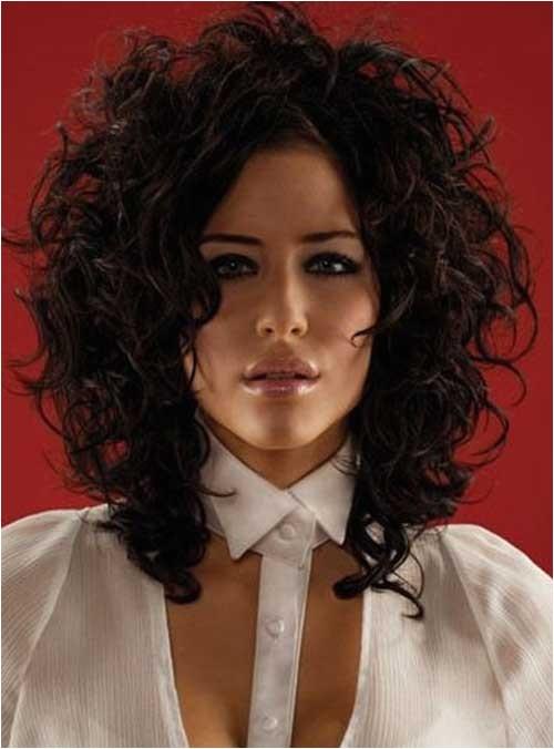 35 medium length curly hair styles