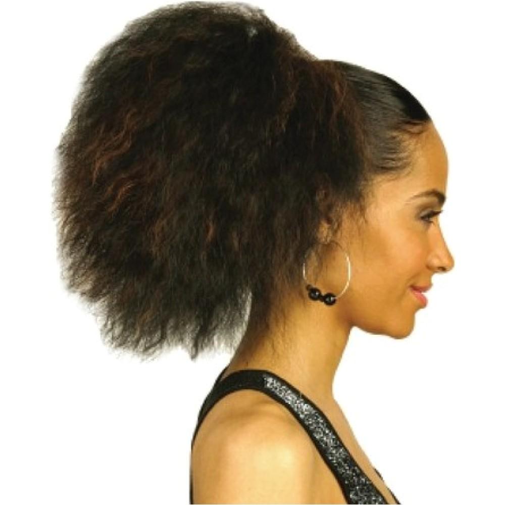 drawstring ponytail hairstyles for black hair