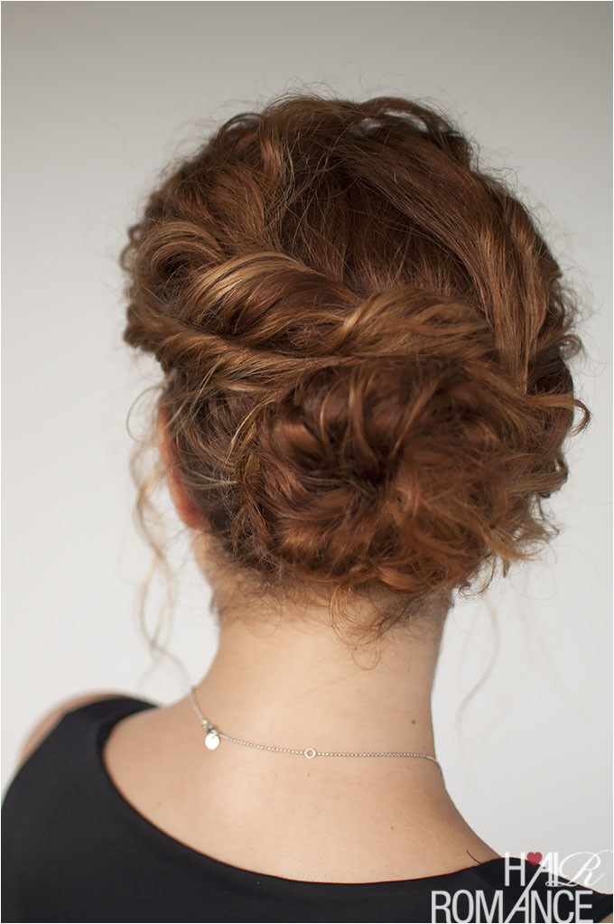 curly hair tutorial easy twisted bun hairstyle