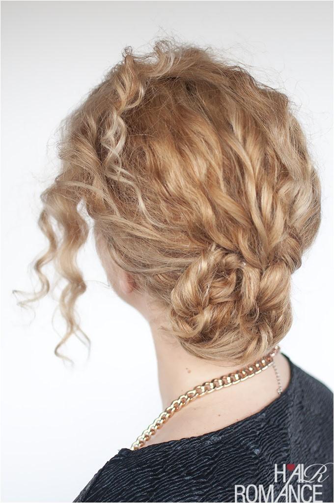 easy curly braided bun tutorial