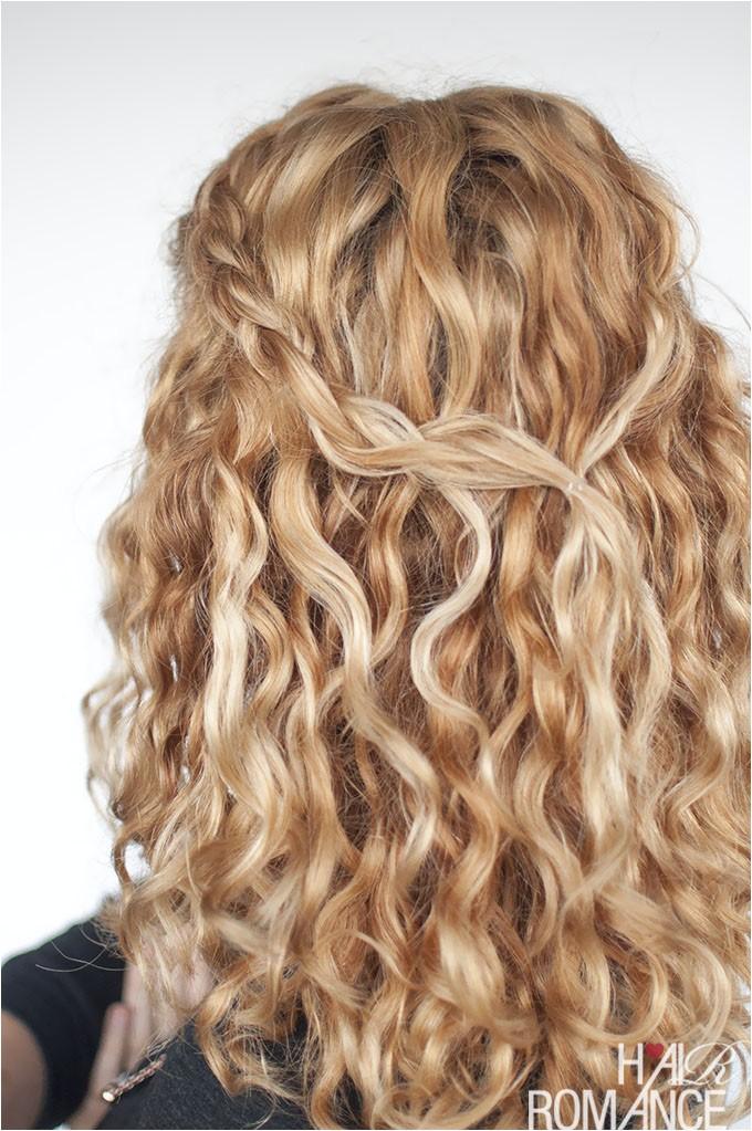 an easy half up braid tutorial for curly hair