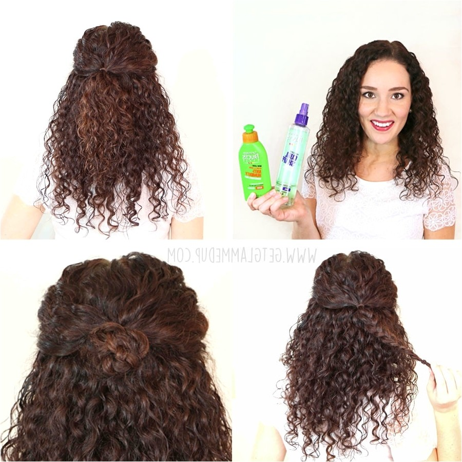 easy hairstyles for long curly hair work