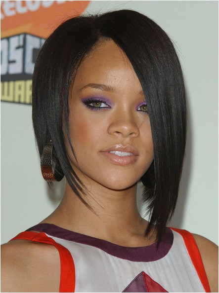 rihanna edgy bob hairstyle
