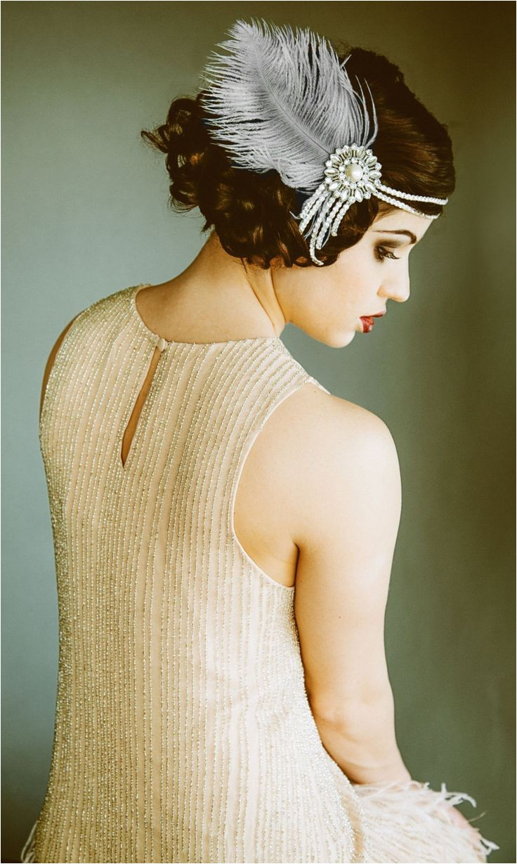 1920s Flapper Headpiece I like this style as an alternative to the kind where the