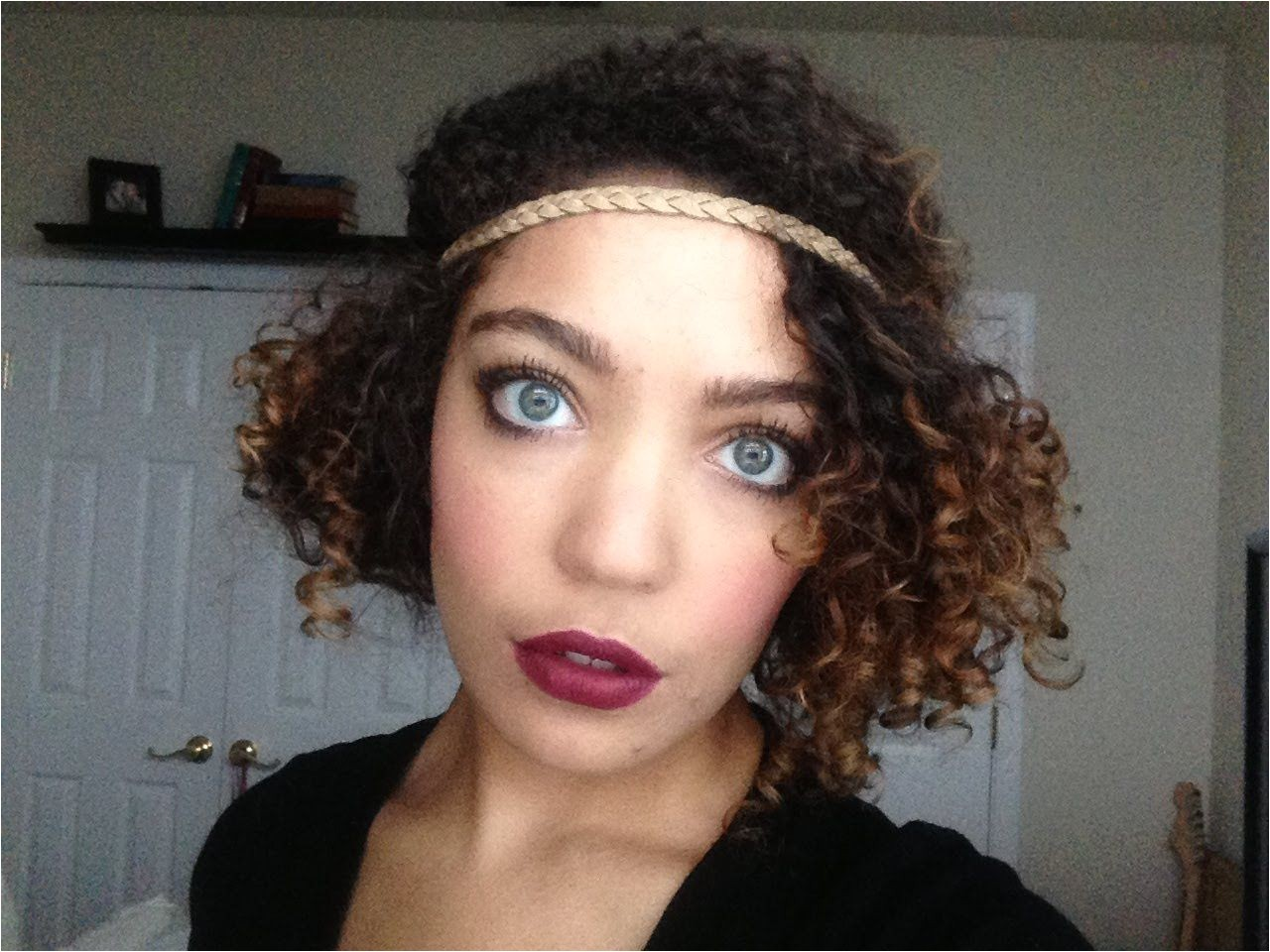Flapper Inspired Hairstyle on Naturally Curly Hair