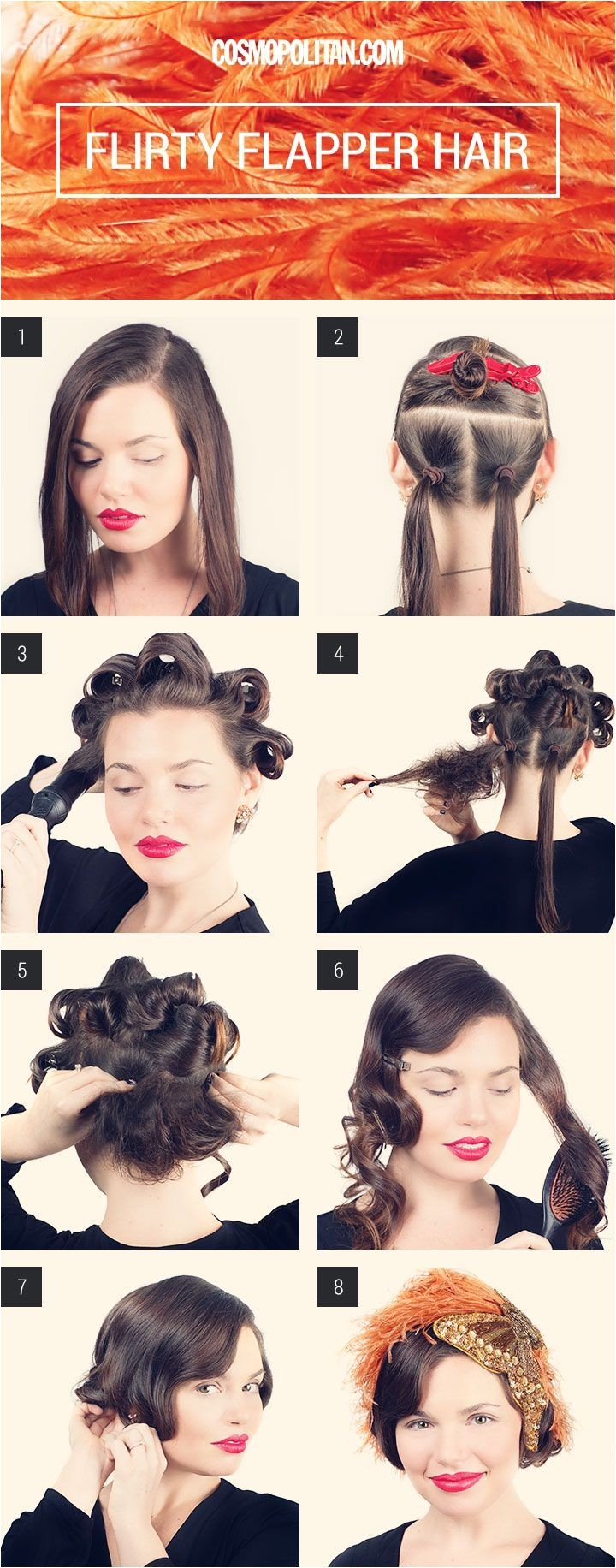 FLIRTY FLAPPER BOB Make your long hair look like a short and wavy bob with this tutorial from Matt Fugate
