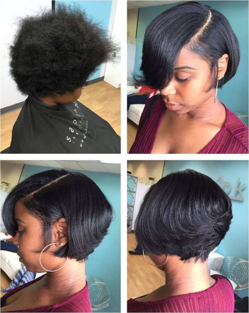 Flat Iron Hairstyles for Black Girls Silk Press and Cut Short Cuts Pinterest