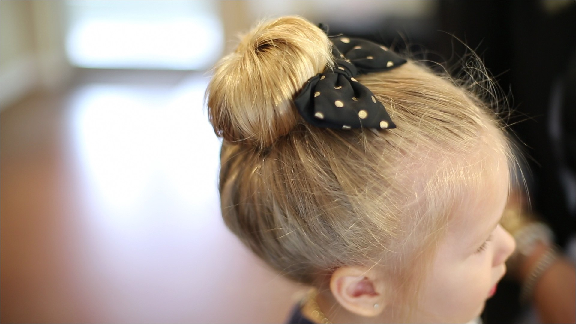 3 Easy Back to School Hairstyles for Toddlers Sock Bun [Video Tutorial]