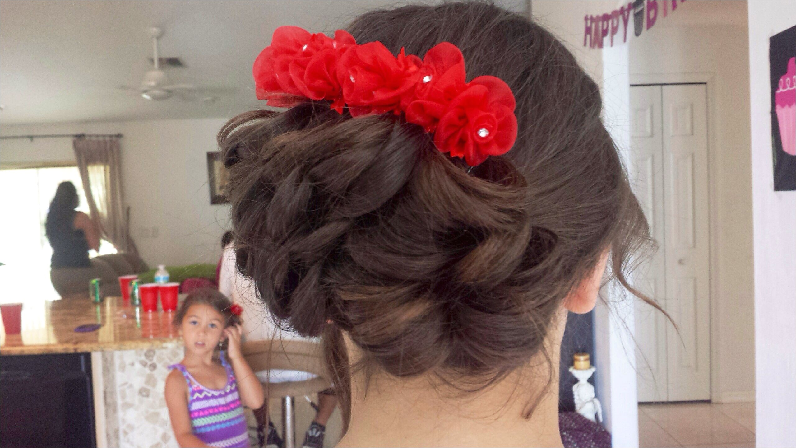 Wedding Hair for Flower Girl Luxury Flower Girl Hair Brown Hair Curly Updo Wedding Flowers