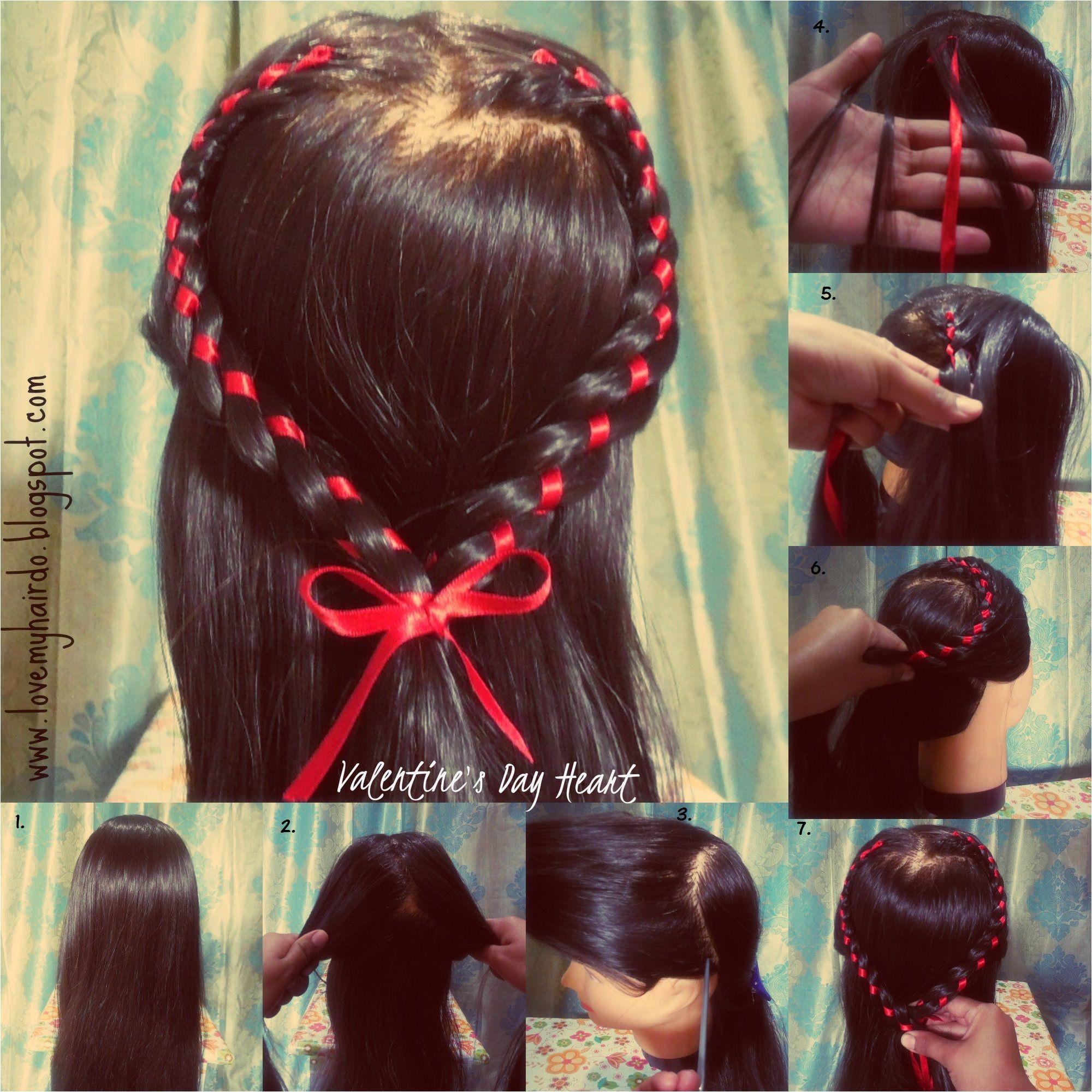 Valentine s day special hairstyles heart braid four strand braid