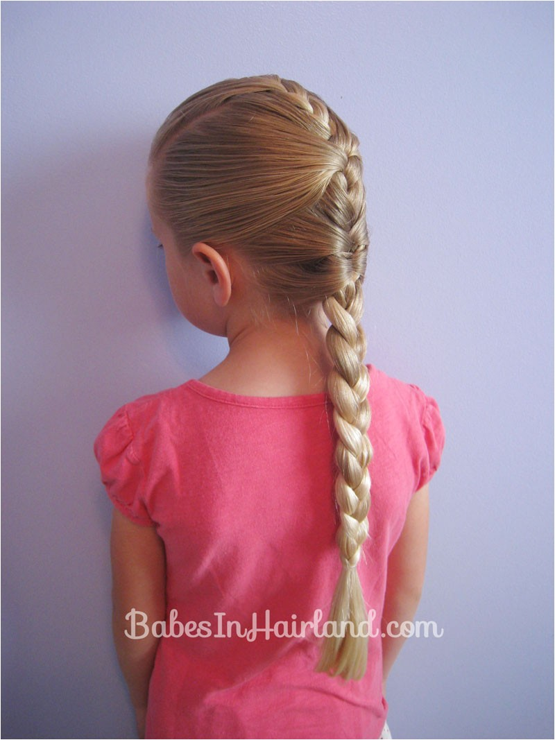 french braid cheat hairstyle