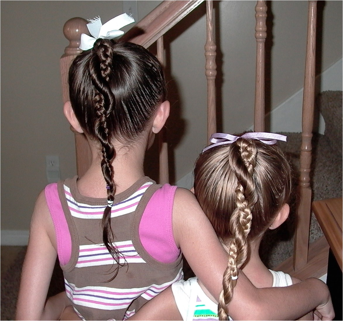 little girls hairstyles easy twist around braided ponytail 10 15 min