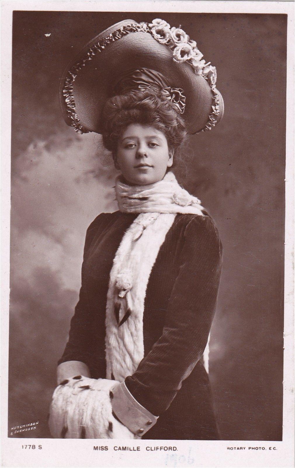 1906 British Actress Gibson Girl Camille Clifford Original Vintage Postcard