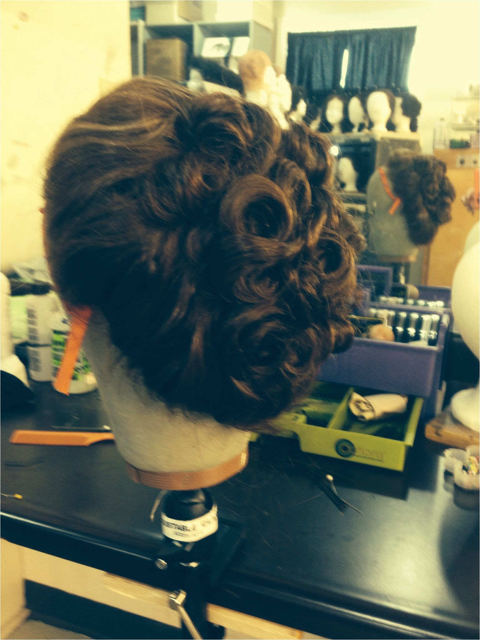 Curly Gibson girl updo