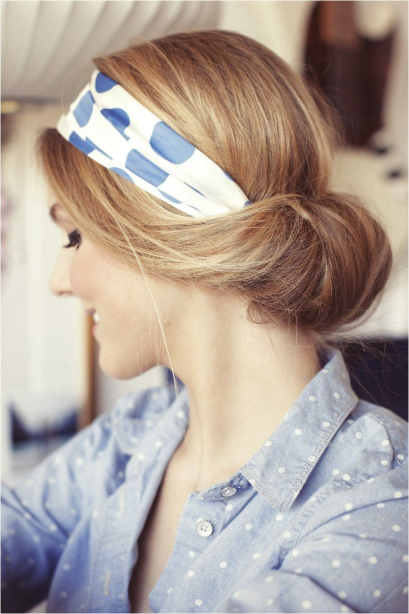 Low Bun Hairstyles That You Can Make Yourself – Bun Hairstyle Scarf Accessorize your breadstuff with