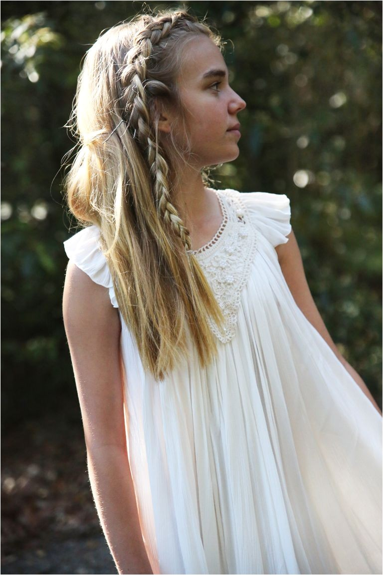 Junior Bridesmaid hairstyle Dress by Tea Princess