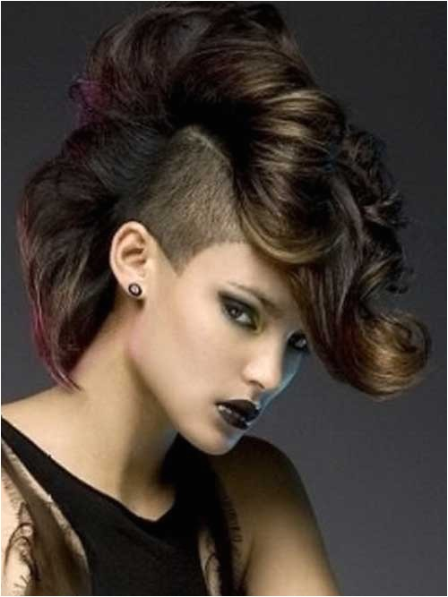 25 punk hairstyles for curly hair