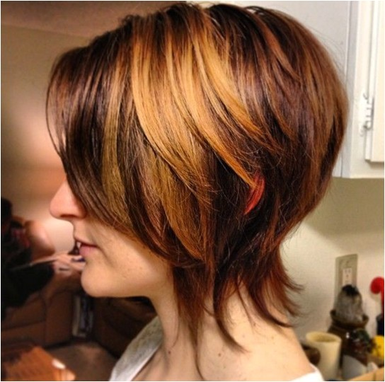 graduated bob haircut fashionable short hair
