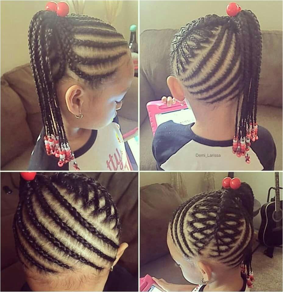 Little girl braided hairstyle super cute