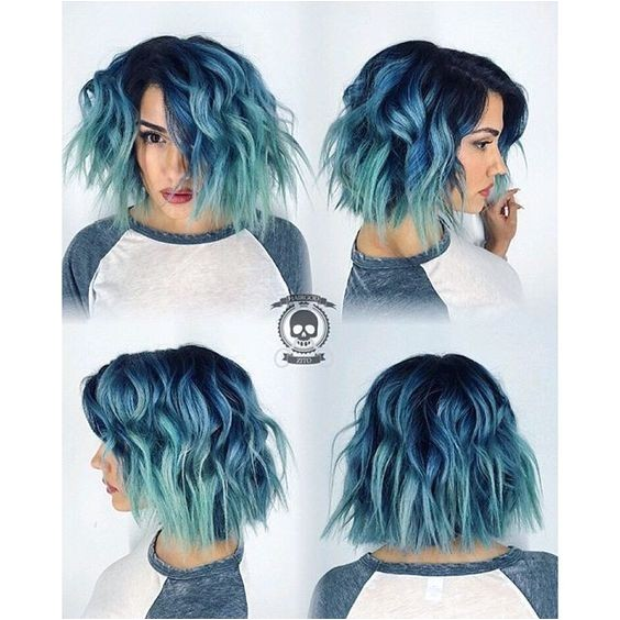 intriguing blue hairstyles color ideas