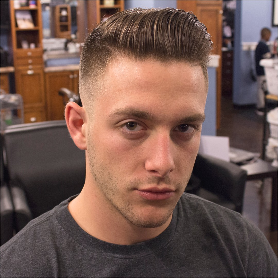 mens side part fade