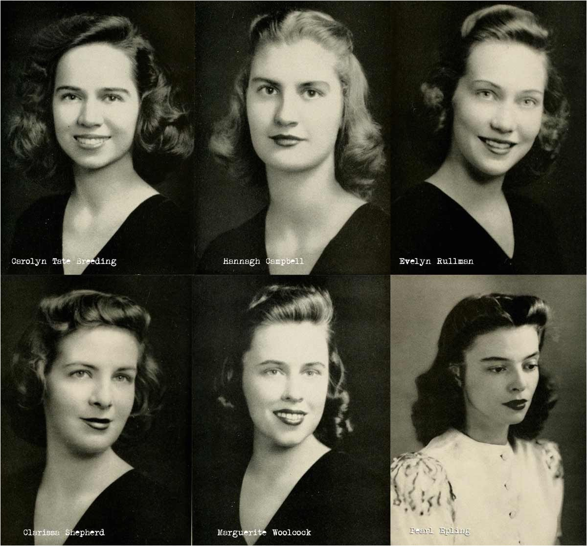 1940s college girl hairstyles 1942