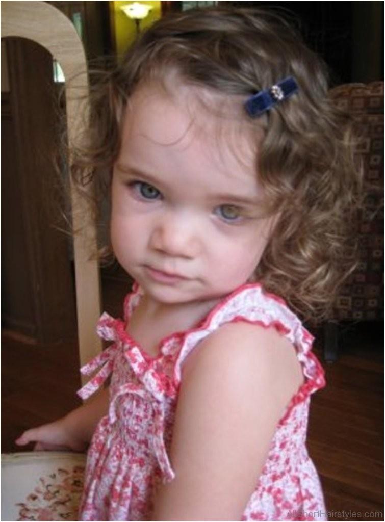 baby short curly hair