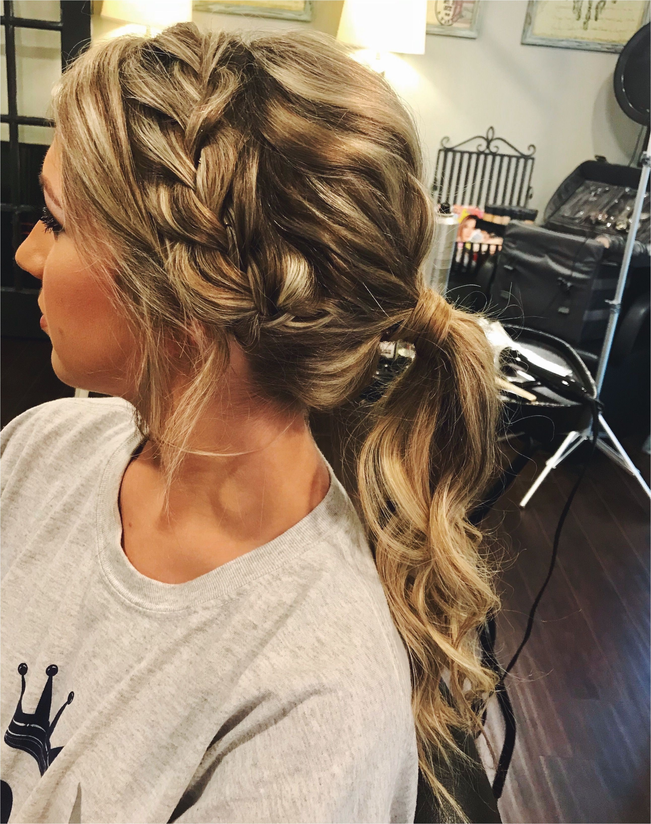 Hairstyles for Homecoming with Braids Prom Hair Ponytail Updo Braid Hair Pinterest