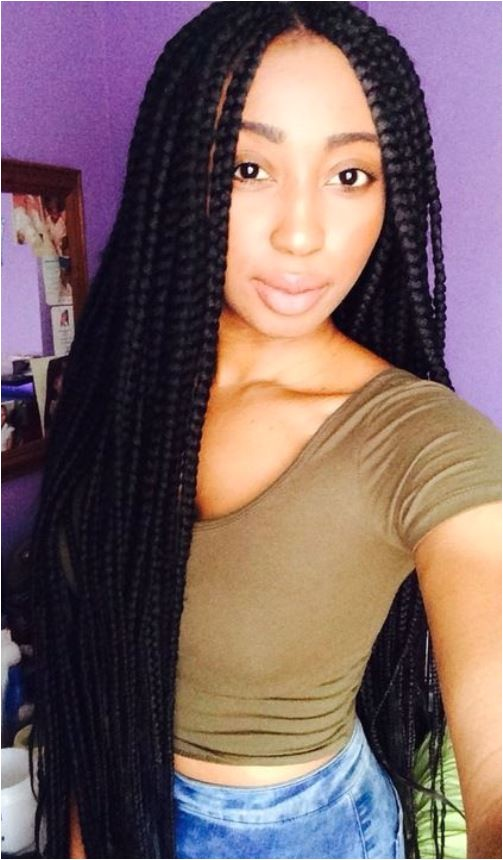 Hairstyles for Long Box Braids 15 Best Braided Hairstyles for Long Faces Black Braided