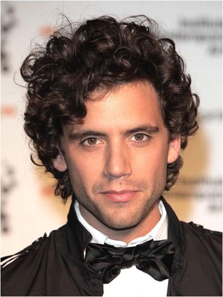 curly hair styles men