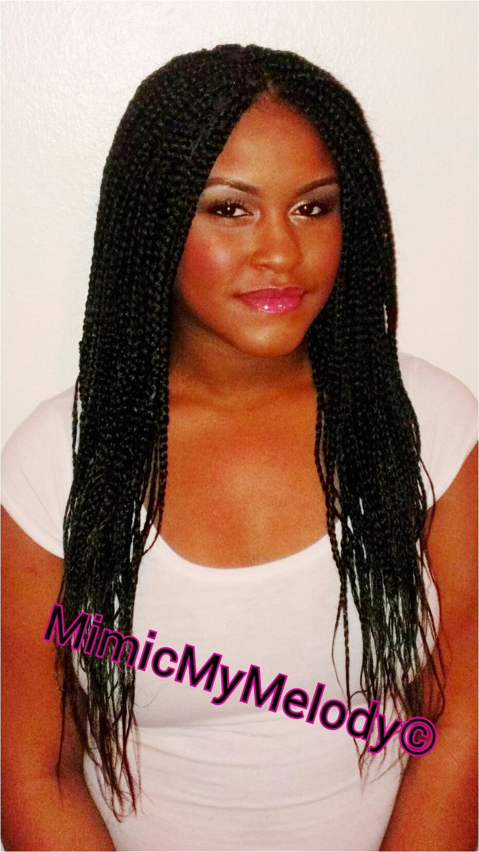 boxbraids individualbraids middlepart protective hairstyle Natural Hair Poetic Justice braids