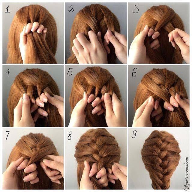 fashionable braid hairstyle shoulder length hair 3