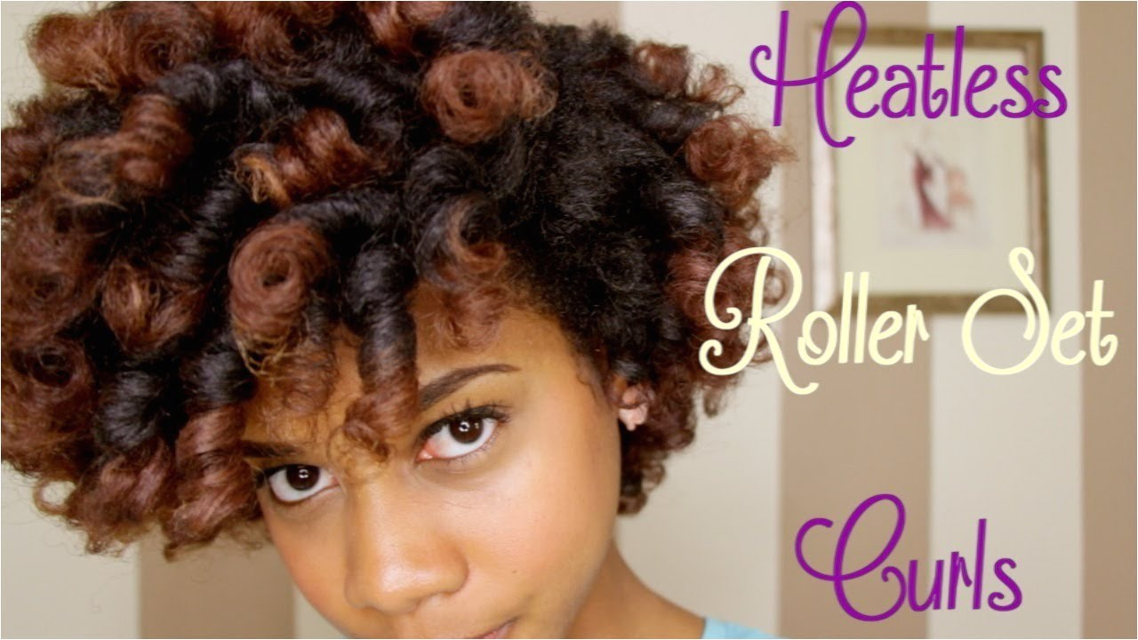 Pretty Hairstyles for Wet Hair Luxury How to Heatless Roller Set Curls Natural Hair