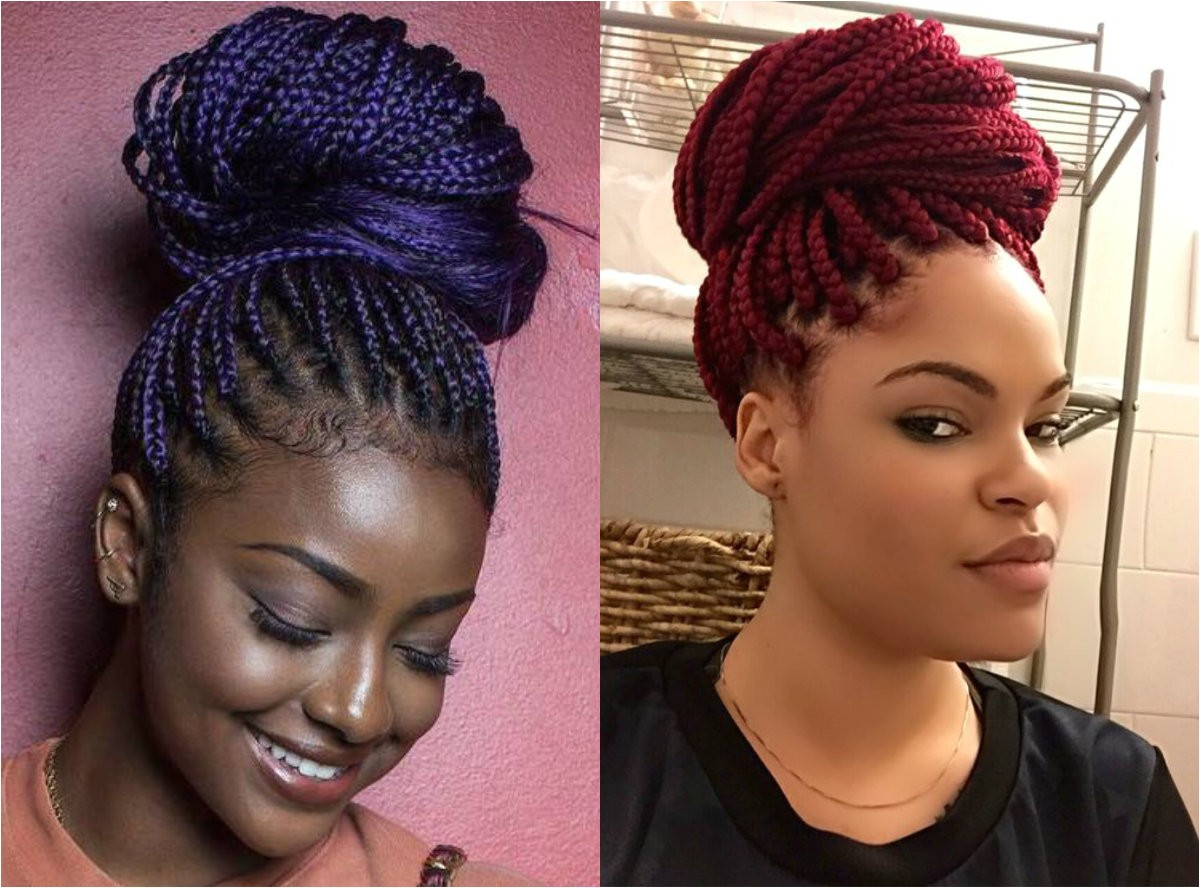 Hairstyles Including Braids Box Braids Bun Hairstyles You Will Swear with