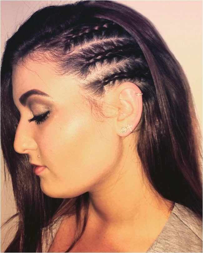 Hairstyles with Braids On the Side Side Cornrow Hairstyles