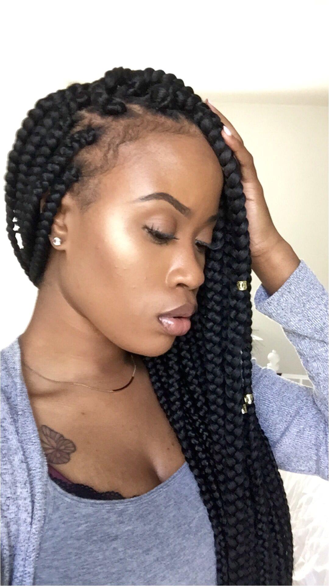 jumbo box braid hairstyles
