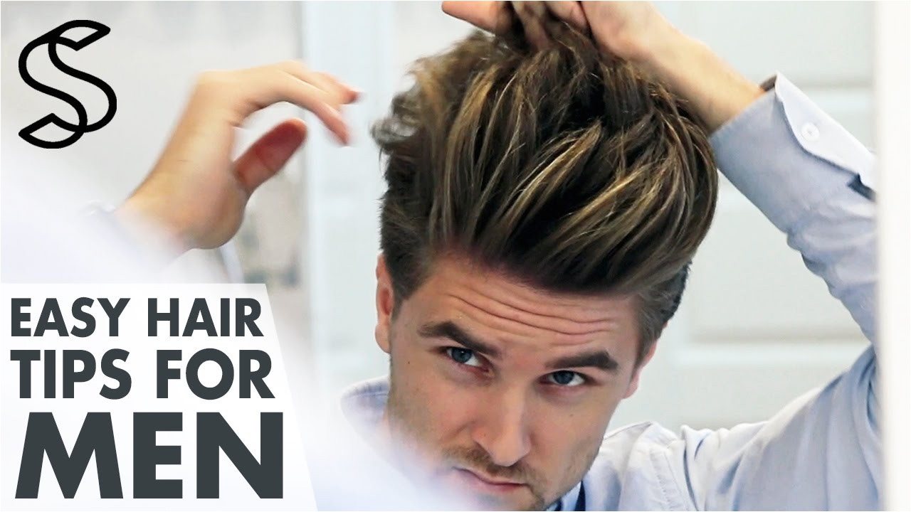 Hairstyling Tips for Men Men S Hair Styling Tips