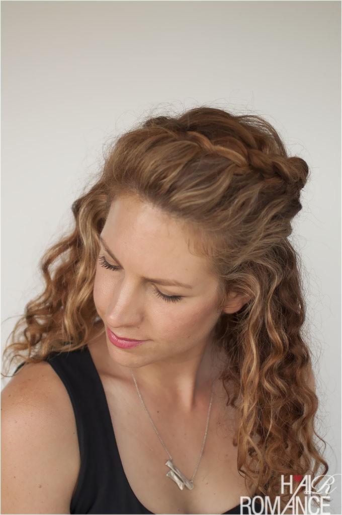 Half Braided Half Curly Hairstyles Curly Hair Tutorial the Half Up Braid Hairstyle Hair