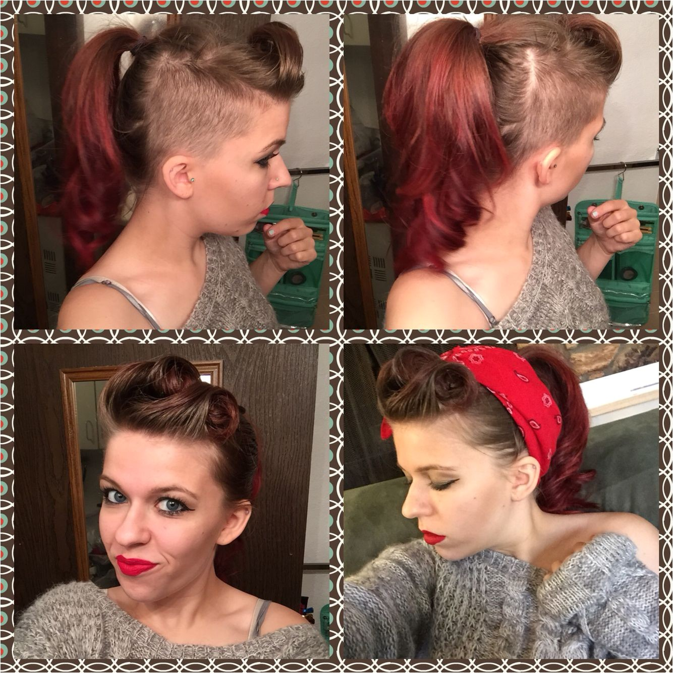 Side shave pin up ☺️