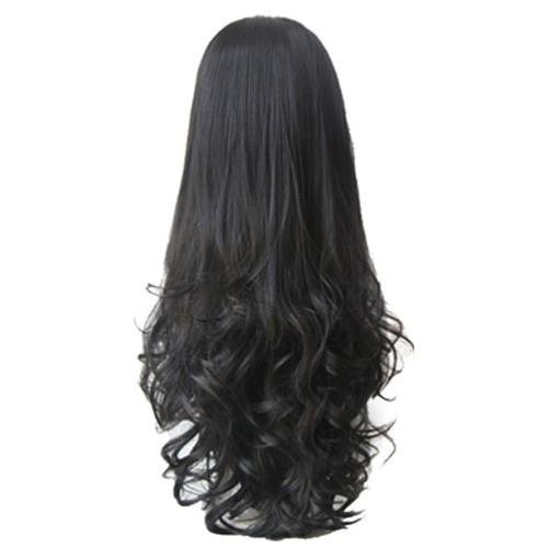 half curly half straight hair