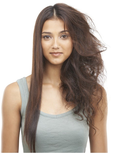 half straight curly hairstyles