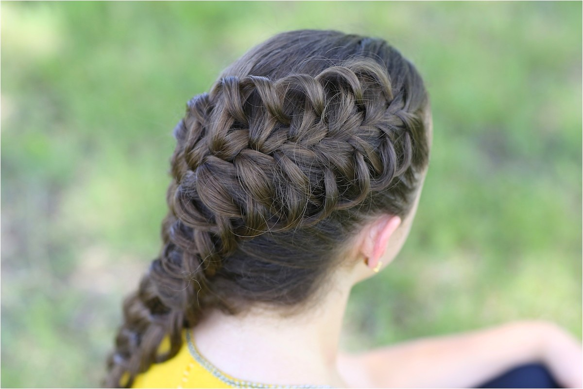 diagonal french loop braid
