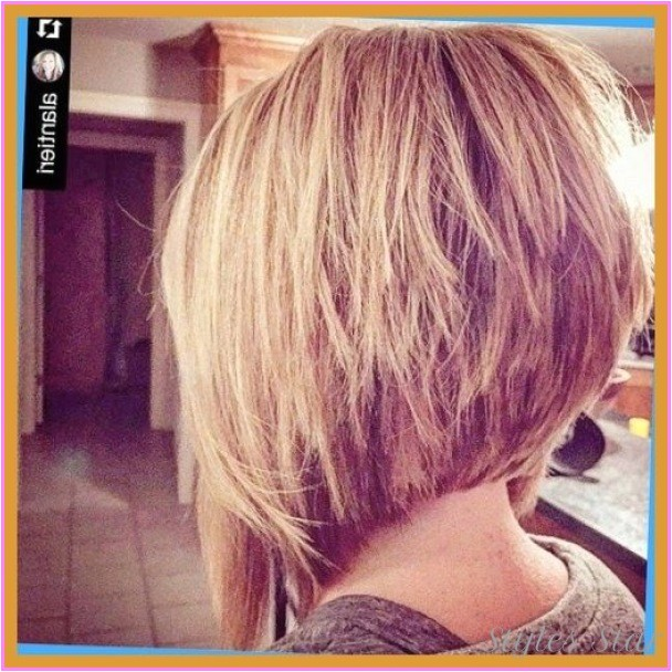 stacked angled bob haircut