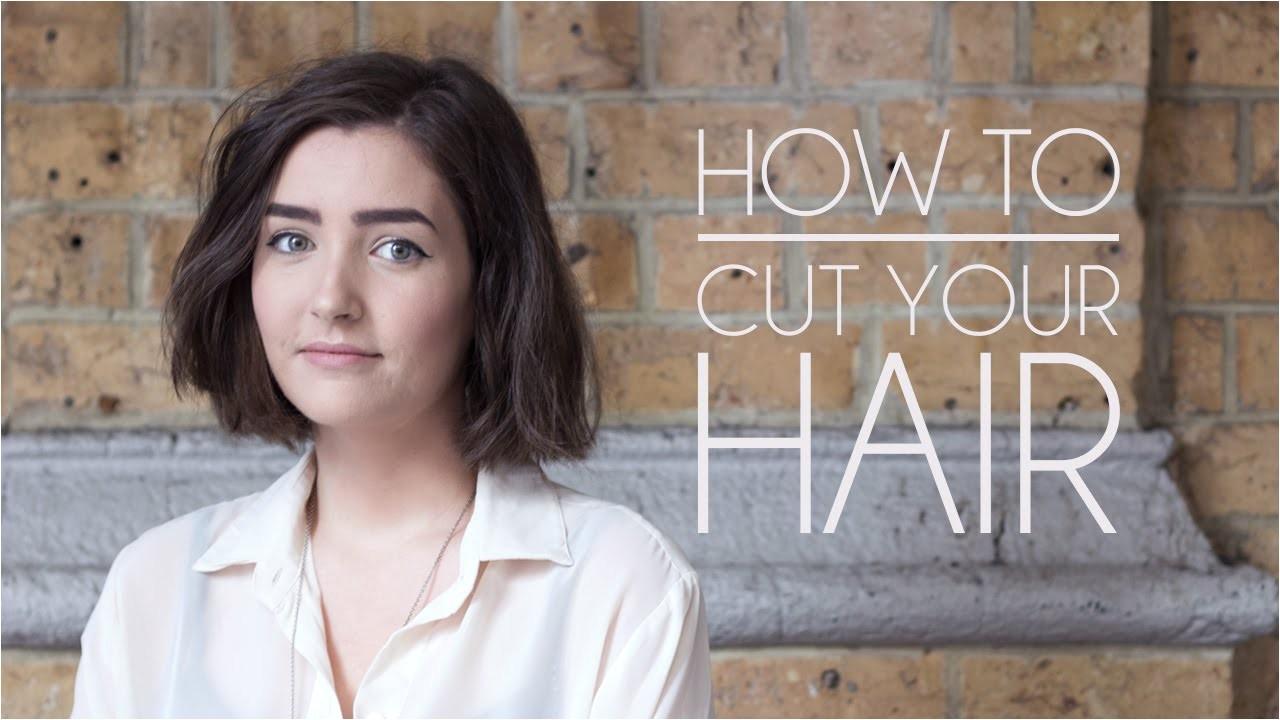 How to Cut Your Own Bob Haircut How to Cut Your Own Hair Short Hair Bob