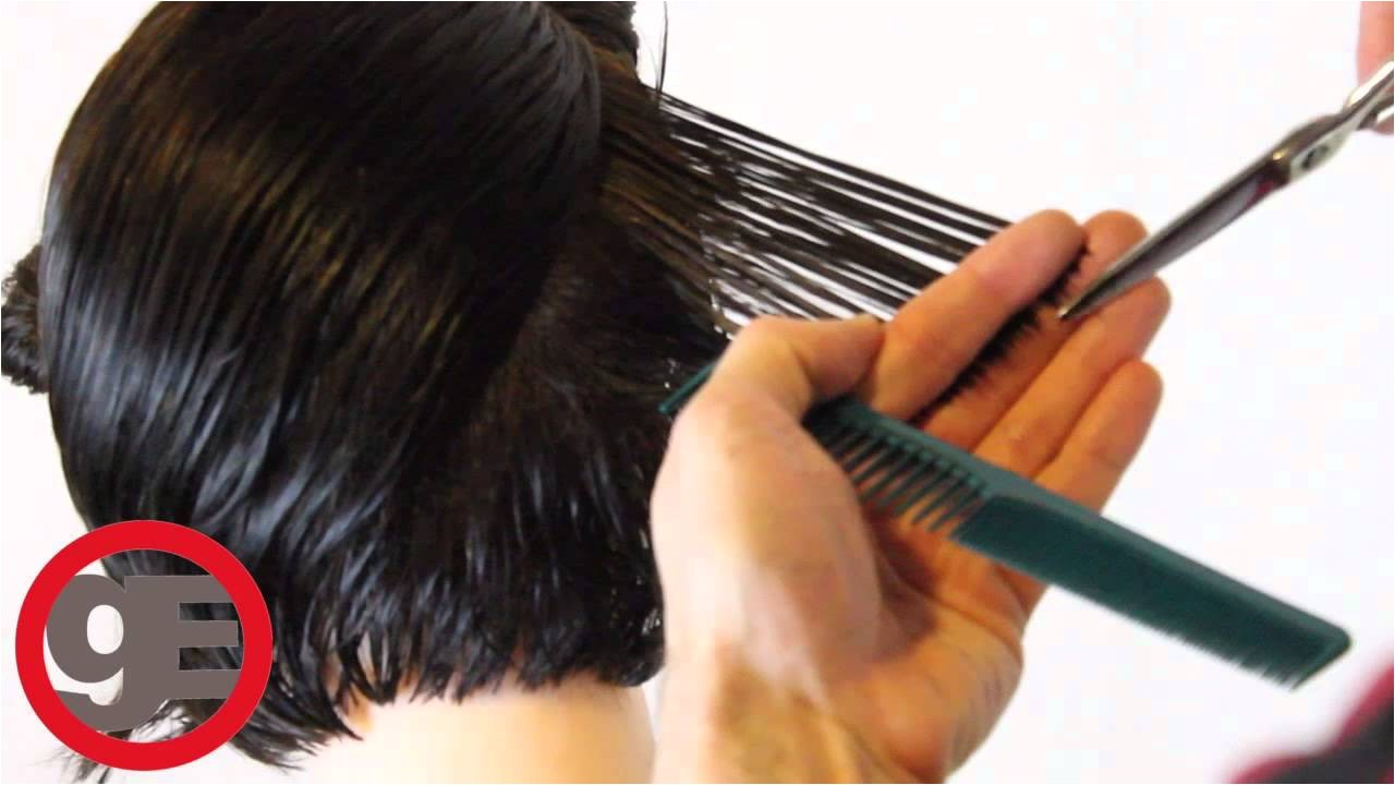how do you cut a inverted stacked bob haircut step by step instructions