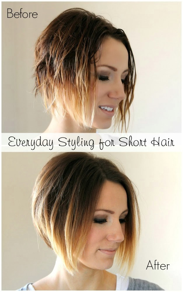 everyday styling for short angled bob