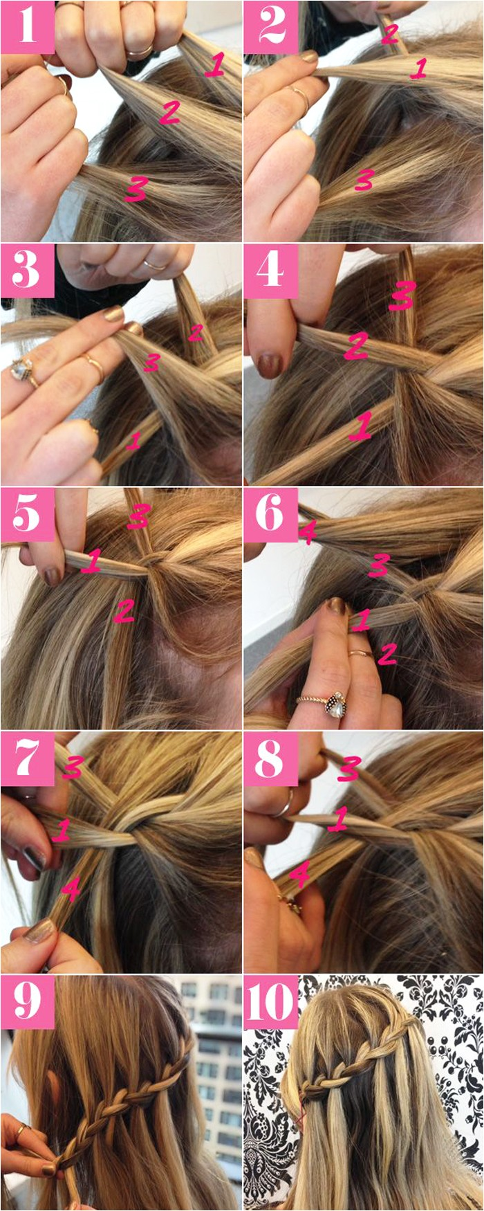easy step by step hairstyle tutorials for medium length hair