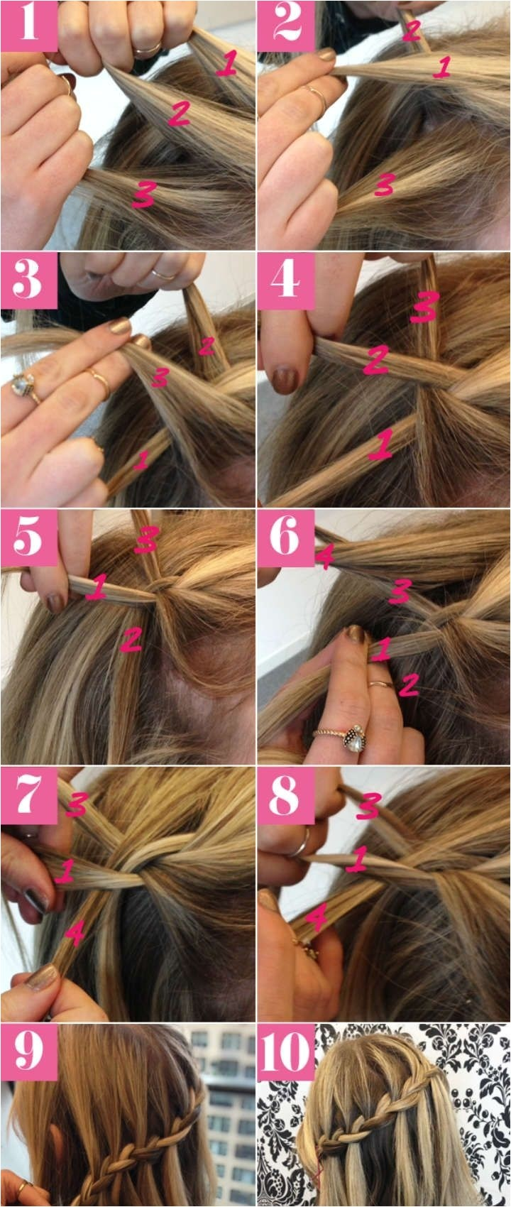 How to Do Hairstyles with Braids 10 Best Waterfall Braids Hairstyle Ideas for Long Hair